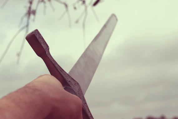 Espada medieval en ristre